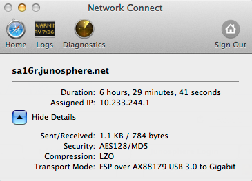 The VPN client that stays open when you join a topology.