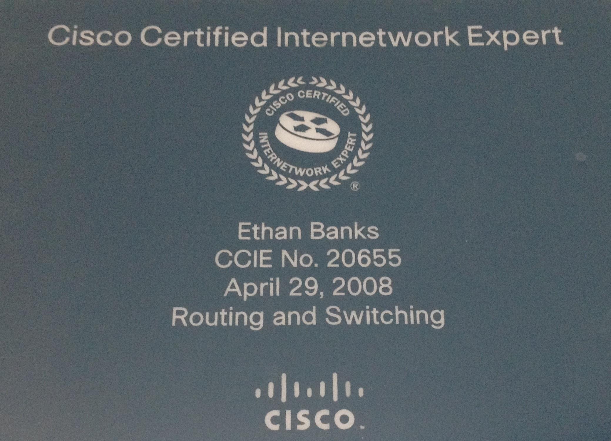 ccie certification recertification plaque