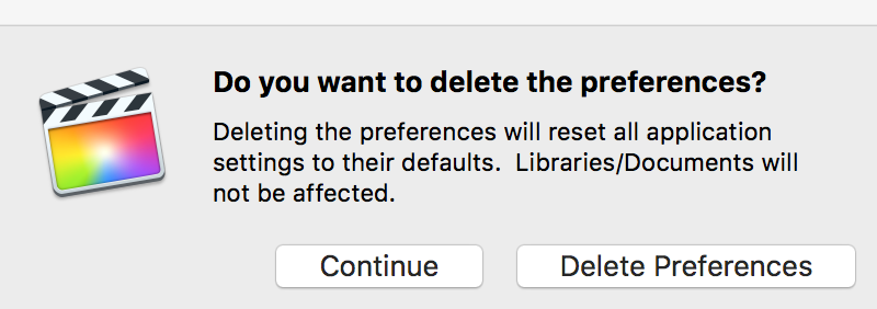 how to delete project final cut pro